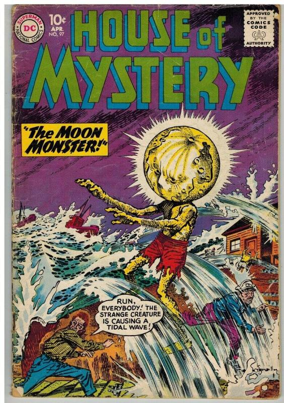HOUSE OF MYSTERY 97 GD April 1960 COMICS BOOK