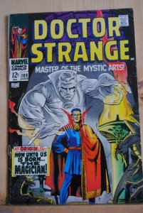 Dr. Strange 169, First Issue, origin retold, ow/white pages