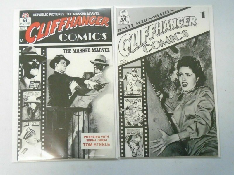 Cliffhanger Comics #1A + 1B (1989) 8.0 VF