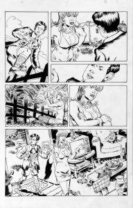 DEAN KOTZ Original Published Art, TRAILER PARK of TERROR #9 page 11, Zombies