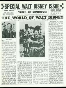 Voice of Comicdom Fanzine #12 1968- Walt Disney- 1st Corben comic FN