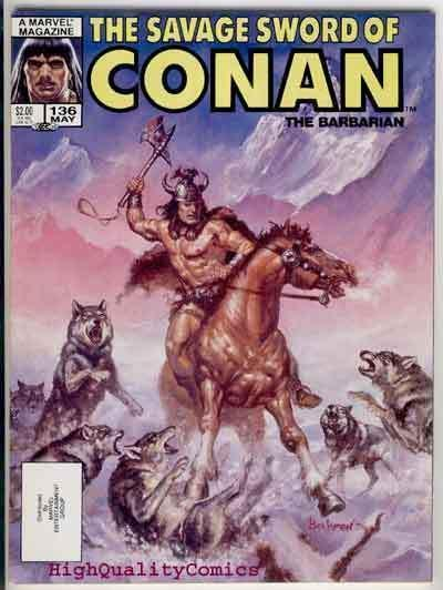 SAVAGE SWORD of CONAN #136, NM, Kull, Ernie Chan, Beekman, more in store