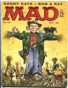 MAD #43-SCARECROW COVER-WOOD-ORLANDO-DRUCKER-1958-vg-