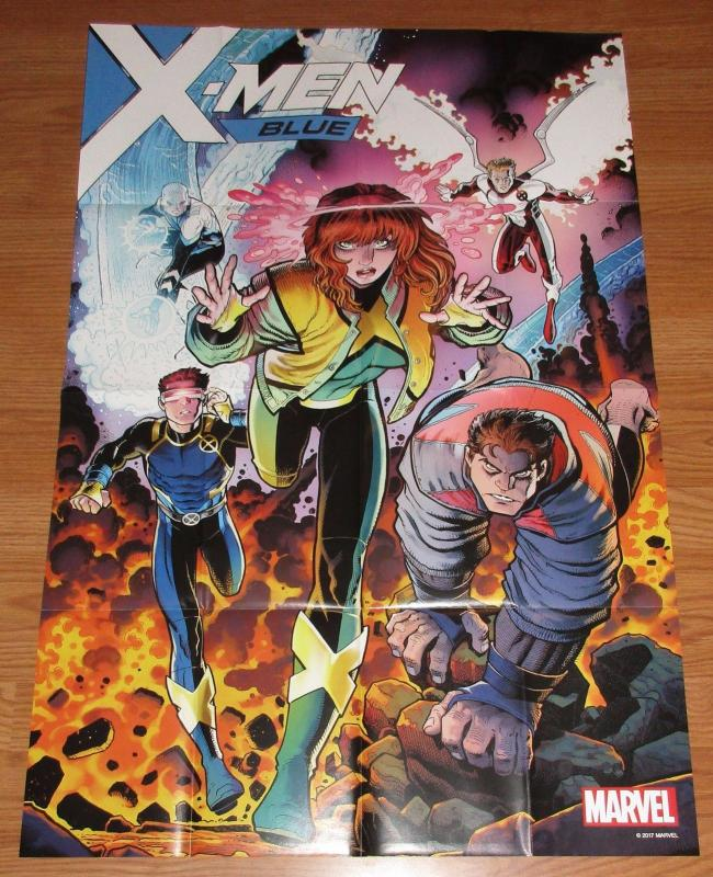 X-Men Blue Folded Promo Poster - Jean Grey / Cyclops / Marvel (24 x 36) - New!