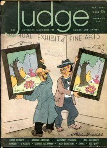 Judge Magazine February 1947- Jimmy Durante- Georgie Galbraith