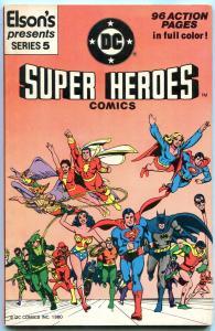ELSON'S DC SUPER HEROES #5 1981-GIANT DC COMIC-SUPERMAN FN/VF