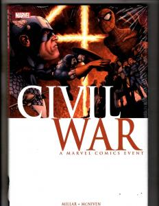 Civil War Marvel Comics Hardcover SEALED Graphic Novel Comic Book J297