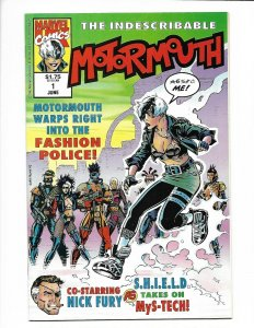 Motormouth #1 Marvel UK. 1992 NM 9.4 Nick Fury appearance. Gary Frank cover.