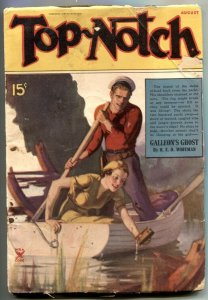 Top-Notch Pulp August 1935- Galleon's Ghost- VG-