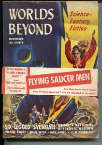 World's Beyond 12/1/1950-sci-fi pulp stories-John D MacDonald-1st issue-Wylie-VG
