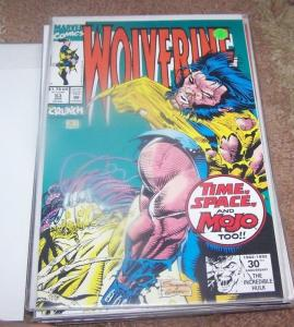 WOLVERINE #53 MARVEL 1992  MOJO + marvel LOGAN  x-men