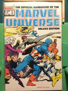 The Official Handbook of the Marvel Universe #2 Deluxe Edition