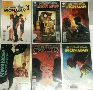 INTERNATIONAL IRON MAN#2-26 NM LOT (6 BOOKS) 2016 BRIAN BENDIS MARVEL COMICS