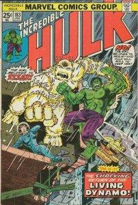 Incredible Hulk #183 ORIGINAL Vintage 1975 Marvel Comics 2nd App Zzzax