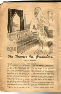 Modern Love Pulp June 1938- very rare- low grade