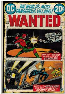 WANTED (1972)  6 F-VF Feb 1973 Starman, Wildcat/Whisp