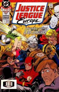 Justice League Europe Annual #1, VF- (Stock photo)