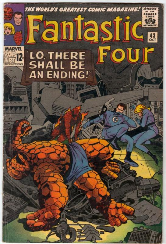 Fantastic Four #43 (Oct-65) VG/FN Mid-Grade Fantastic Four, Mr. Fantastic (Re...
