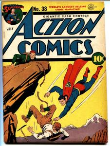 ACTION COMICS #38-SUPERMAN-1941-DC GOLDEN-AGE-COMIC BOOK