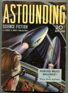 Astounding Pulp September 1939- 1st Theodore Sturgeon story- Hubbard