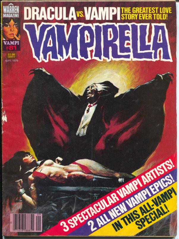 Vampirella #81 1979-Warren-Dracula vs Vampi-epic issue-G/VG