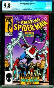 Amazing Spider-Man #263 CGC Graded 9.8 Spider-Kid & Black Cat Appearance