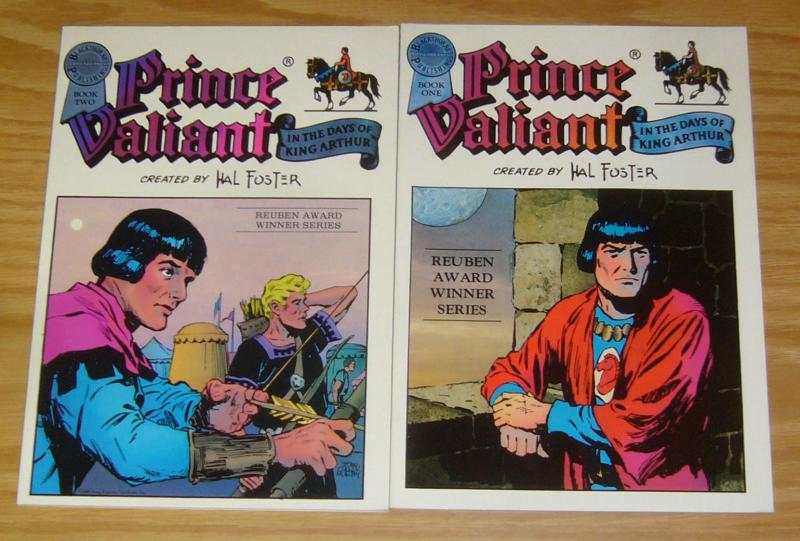 Prince Valiant TPB 1-2 VF/NM complete series - hal foster - blackthorne 1986 set