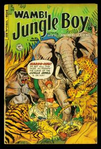 Wambi Jungle Boy #12 1951- elephant / tiger cover- fiction house- VG/FN