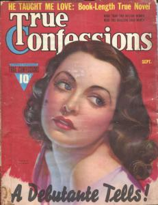 True Confessions 9/1939-Fawcett-pin-up girl-Zoe Mozert-Loretta Young-spicy-G
