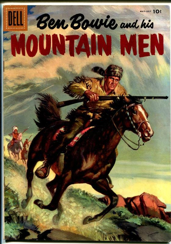 Ben Bowie and His Mountain Men #7 1957-Dell-painted cover-VF