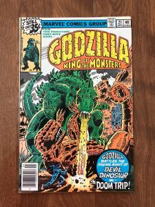 Godzilla: King of the Monsters #21 (Marvel; April, 1979) - Fantastic Four - VF
