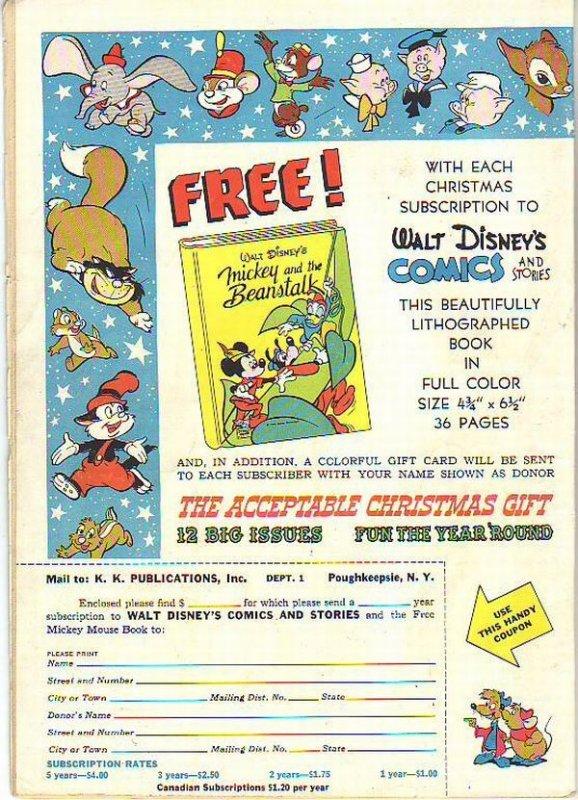 Comics and Stories, Walt Disney's #136 (Jan-52) VG+ Affordable-Grade Donald D...