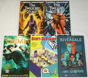 (5) TPB lot - twilight zone - bob's burgers - grimm - riverdale (value: $84.95)