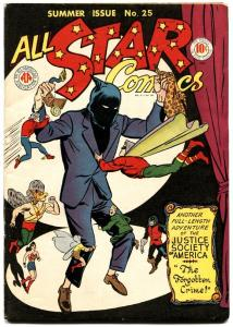 All Star Comics #25 1945- Justice Society- Green Lantern Flash Wonder Woman VF