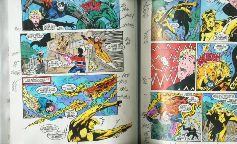 JACK KIRBY'S TEENAGENTS #3 -COLOR GUIDES PRODUCTION ART