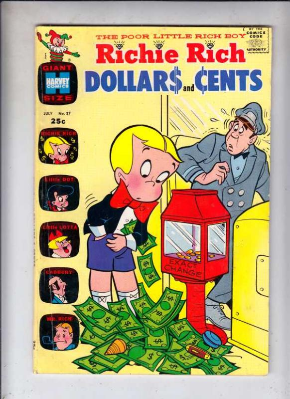 Richie Rich Dollars and Cents #37 (Jul-70) FN/VF High-Grade Richie Rich