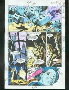 ORIGINAL D.C. COLOR GUIDE ROBIN ANNUAL #2 PG 24-SIGNED VG