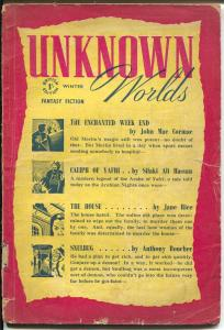 Unknown Worlds-Winter 1948-Anthony Boucher-Lester del Rey-pulp tales-G-