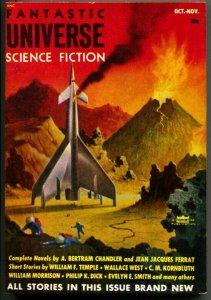 FANTASTIC UNIVERSE SCIENCE FICTION-Oct 1953-Pulp-ALEX SCHOMBERG-PHILIP K DICK