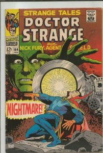 Strange Tales #164 ORIGINAL Vintage 1968 Marvel Comics Dr Strange Jim Steranko