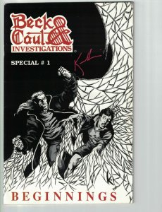 Beck & Caul Investigations Special #1 VF signed by Paul J. Kowalski - Gauntlet