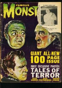 FAMOUS MONSTERS OF FILMLAND#19-1962-100 PAGES-HORROR FILM PIX-LOW GRADE COP P/FR