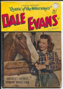 Dale Evans #7 1949-DC-handmade cover-unique-unusual-P/FR