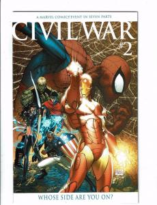 Civil War # 2 NM 1st Print TURNER VARIANT Marvel Comic Book Avengers Thor J123