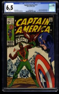 Captain America #117 CGC FN+ 6.5 White Pages 1st Falcon!
