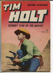 Tim Holt #5 1949-ME-photo covers-Frank Bolle art-VG+