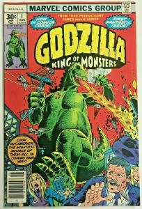 GODZILLA KING OF THE MONSTERS#1 VF/NM 1977 MARVEL BRONZE AGE COMICS