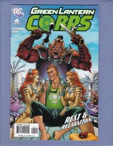 Green Lantern Corps #4 NM- Guy Gardner Front/Back Cover Scans DC 2006