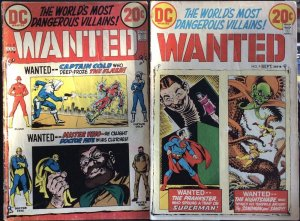 Wanted The World's Most Dangerous Villains ! #8 & 9 (1973 DC) Lot of 2