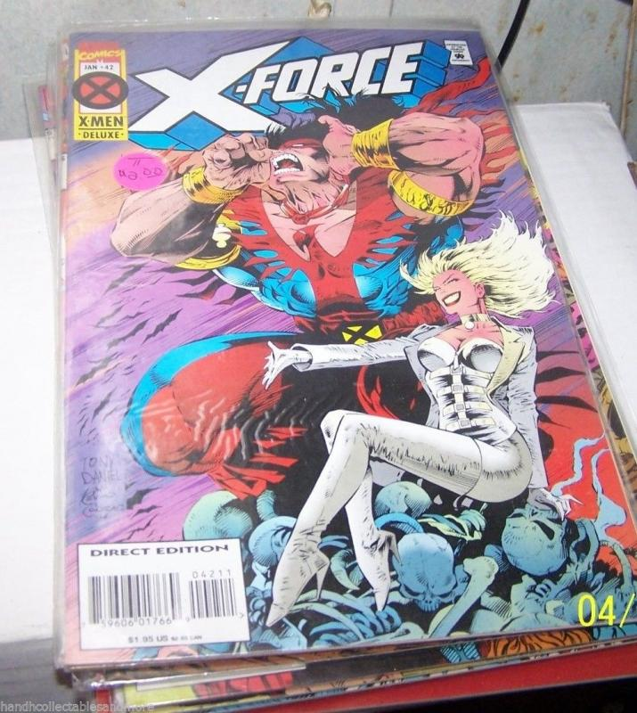 X FORCE COMIC # 42  cable  white queen x men warpath hellfire club
